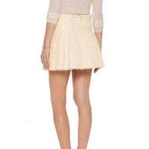 Isabel Marant Tan Linen Tier Ruffle Skirt Sz 36